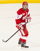 Cason Hohmann (BU - 7) - The Boston College Eagles defeated the visiting Boston University Terriers 5-2 on Saturday, December 1, 2012, at Kelley Rink in Conte Forum in Chestnut Hill, Massachusetts.