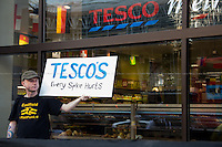 "12.06.2014 - ""Homes Not Spikes"" - Two Demos At Tesco"
