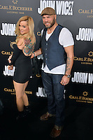 Randy Couture &amp; Mindy Robinson at the premiere of &quot;John Wick Chapter Two&quot; at the Arclight Theatre, Hollywood. <br /> Los Angeles, USA 30th January  2017<br /> Picture: Paul Smith/Featureflash/SilverHub 0208 004 5359 sales@silverhubmedia.com