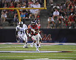 Ole Miss' Randall Mackey (1) runs at Vaught-Hemingway Stadium in Oxford, Miss. on Saturday, September 1, 2012. (AP Photo/Oxford Eagle, Bruce Newman)..