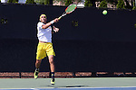 14 May 2016: Michigan's Myles Schalet. The Wake Forest University Demon Deacons hosted the University of Michigan Wolverines at the Wake Forest Tennis Center in Winston-Salem, North Carolina in a 2015-16 NCAA Division I Men's Tennis Tournament Second Round match. Wake Forest won the match 4-2.