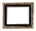 Gilded bamboo decorative picture frame isoolated on white background