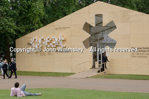 """The Big """"Tent"""" for the Royal College of Art Degree Show, Kensington Gardens, London  2007"""