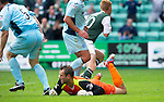 Hibs v St Johnstone...25.08.12   SPL.Eoin Doyle celebrates his goal.Picture by Graeme Hart..Copyright Perthshire Picture Agency.Tel: 01738 623350  Mobile: 07990 594431