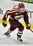 10 February 2012: Boston College Eagles defenseman Edwin Shea, a Senior from Shrewsbury, MA, in action against the University of Vermont Catamounts at Gutterson Fieldhouse in Burlington, Vermont. The Eagles defeated the Catamounts 6-1 in their Hockey East matchup. Mandatory Credit: Ed Wolfstein Photo