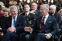 German President Joachim Gauck during a visit ROJM Center in Mechelen - Belgium