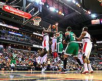 Paul Pierce #34 of the Celtics passes the ball the ball to a teammate. Boston defeated Washington 89-86 at the Verizon Center in Washington, D.C. on Saturday, November 3, 2012.  Alan P. Santos/DC Sports Box