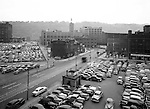 Pittsburgh PA: View across Liberty Avenue toward 3rd Avenue and the Boulevard the Allies before Gateway Center - 1949