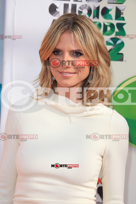 Heidi Klum at Nickelodeon's 25th Annual Kids' Choice Awards at The Galen Center on March 31, 2012 in Los Angeles, California. &copy; mpi26/MediaPunch Inc. /NortePhoto<br />
