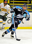 21 February 2009: University of Maine Black Bears' forward Jenna Ouellette, a Junior from Winnipeg, Manitoba, in action against the University of Vermont Catamounts at Gutterson Fieldhouse in Burlington, Vermont. The Catamounts shut out the Black Bears 1-0. Mandatory Photo Credit: Ed Wolfstein Photo