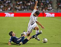 CARSON, CA - September 1, 2012:  LA Galaxy midfielder Jose Villarreal (33) during the LA Galaxy vs the Vancouver Whitecaps FC at the Home Depot Center in Carson, California. Final score LA Galaxy 1, Vancouver Whitecaps FC 0.