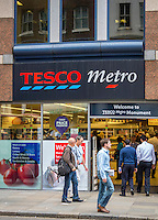Tesco Metro Store, London, Britain - Aug 2013.