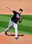 6 September 2009: Minnesota Twins' starting pitcher Nick Blackburn on the mound against the Cleveland Indians at Progressive Field in Cleveland, Ohio. The Indians defeated the Twins 3-1 to take the rubber match of their three-game weekend series. Mandatory Credit: Ed Wolfstein Photo