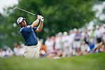 LEE WESTWOOD hits his approach shot on the 9th hole at Congressional Country Club during the final round of the U.S. Open in Bethesda, MD. at Congressional Country Club during the final round of the U.S. Open in Bethesda, MD.