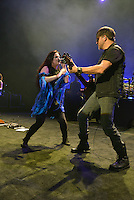 MIAMI BEACH, FL - NOVEMBER 13: Amy Lee and Troy McLawhorn of Evanescence perform on stage at Fillmore Miami Beach on November 13, 2016 in Miami Beach, Florida. Credit: MPI10 / MediaPunch