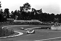 LE MANS, FRANCE: The Porsche 956 002 of Jacky Ickx and Derek Bell being driven en route to winning the 24 Hours of Le Mans on June 20, 1982, at Circuit de la Sarthe in Le Mans, France.