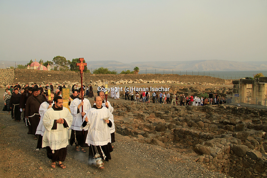 The Franciscan Pilgrimage to Capernaum, the Town of Jesus