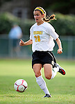 28 August 2009: University of Vermont Catamounts' forward Bethany Kwarta, a Freshman from Pittsford, NY, in action against the University of Montreal Carabins at Centennial Field in Burlington, Vermont. The Catamounts defeated the Carabins 3-2 in sudden death overtime. Mandatory Photo Credit: Ed Wolfstein Photo