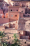 Houses of the Ksar and Kasbah Ait Ben Haddou. Details view of the ksar.