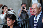 Former IMF chief Dominique Strauss-Kahn ahead sexual assault charges during trial in New York, August 23,2011.VP/Kena Betancur