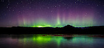 Aurora borealis, Þingvellir National Park, Iceland