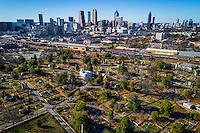 Historic Oakland Cemetery in Atlanta, Georgia, USA.