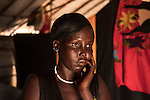Mcc0075406 . Daily Telegraph<br /> <br /> DT Foreign<br /> <br /> <br /> 25 yr old mother Nyabura Nyon who is waiting to be reunited with her children after three years after being separated during conflict in the town of Bentiu in 2013 .<br /> <br /> POC 3 , the Protection of Civilian Camp inside the vast UN compound on the outskirts of Juba . Over 20,000 civilians who predominantly fled from conflict in the equatorial states of South Sudan . United Nation's agencies recently announced a famine in the war torn country .<br /> <br /> Juba 27 February 2017