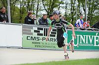 INLINE-SKATEN: HEERDE: Skeeler- en Skatecentrum Hoornscheveen, Europa Cup/UnivÈ Skate Off, 05-05-2012, Elma de Vries (#8), ©foto Martin de Jong