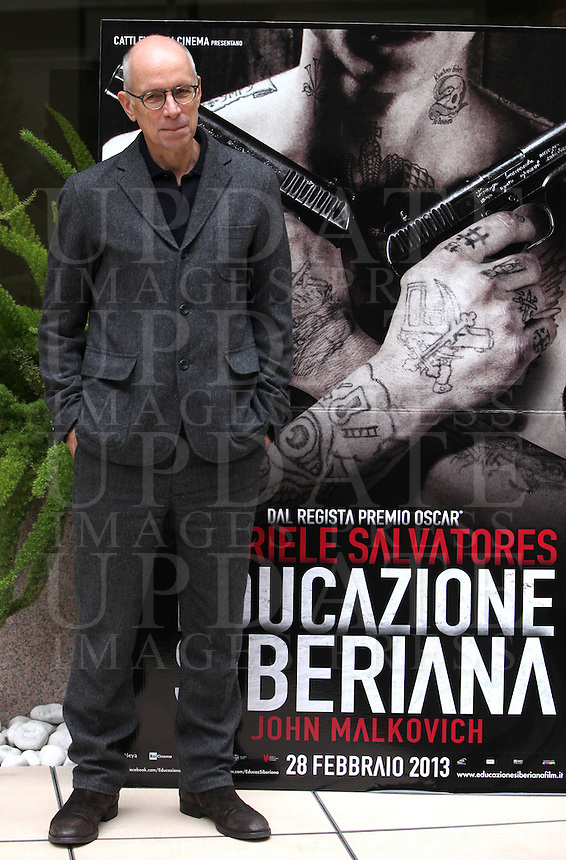 "Il regista italiano Gabriele Salvatores posa durante il photocall del suo film ""Educazione Siberiana"" a Roma, 22 febbraio 2013..Italian director Gabriele Salvatores poses during the photocall of his movie ""Educazione Siberiana"" (""Siberian Education"") in Rome, 22 February 2013..UPDATE IMAGES PRESS/Isabella Bonotto."