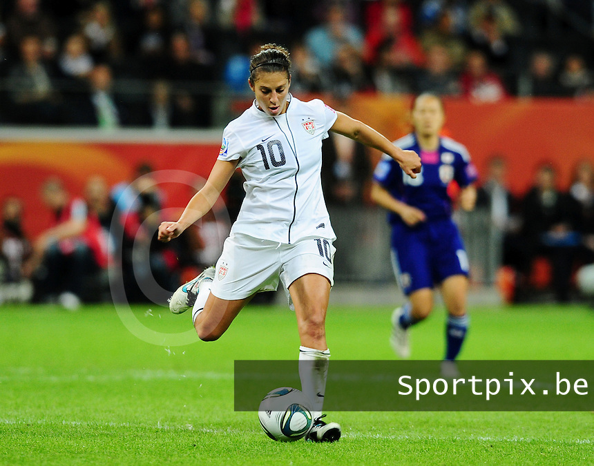 Fifa Women's World Cup Germany 2011 : Japan - USA  at Commerzbank Arena Frankfurt : Carli Lloyd.foto DAVID CATRY / Vrouwenteam.be