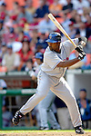 11 April 2006: Carlos Delgado, first baseman for the New York Mets, at bat against the Washington Nationals during the Nationals' Home Opener at RFK Stadium, in Washington, DC. The Mets defeated the Nationals 7-1 to maintain their lead in the NL East...Mandatory Photo Credit: Ed Wolfstein Photo..