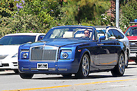 Scott Disick and his brand new Rolls Royce - Exclusive photos