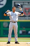 18 June 2006: Alex Rodriguez, third baseman for the New York Yankees, in action against the Washington Nationals at RFK Stadium, in Washington, DC. The Nationals defeated the Yankees 3-2 in the third game of the interleague series...Mandatory Photo Credit: Ed Wolfstein Photo...