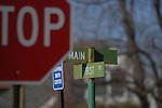 11/7/07 Smith Center, KS.Signs  near First and Main Streets in Smith Center, KS...(Chris Machian/Prairie Pixel Group)
