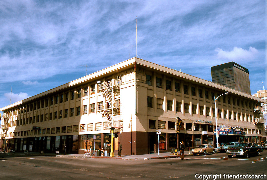 """San Diego: The Golden West Hotel. Harrison Albright, 1913 but """"International Style by John Lloyd Wright who worked for Albright."""""""
