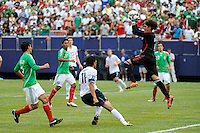 Mexico (MEX) goalkeeper Guillermo Ochoa (1) comes off his line to grab a pass. Mexico (MEX) defeated the United States (USA) 5-0 during the finals of the CONCACAF Gold Cup at Giants Stadium in East Rutherford, NJ, on July 26, 2009.