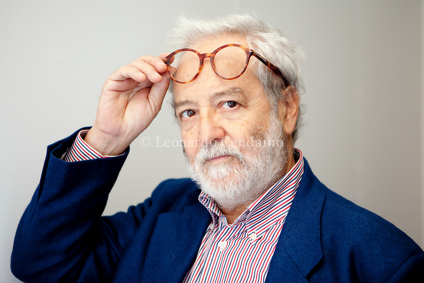 Claudio Sabelli Fioretti,luogo di dialogo del giornalista, che è stato anche direttore di Cuore, con i lettori del Corriere della Sera, di Sette e gli ascoltatori di Caterpillar (RadioDue). Ronchi di Percoto, gennaio 2013. © Leonardo Cendamo