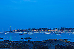 Evening in Marblehead Harbor in Marblehead, Massachusetts, USA