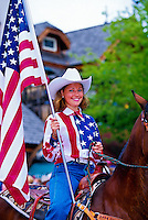 Fourth of July parade, Bigfork, Flathead Valley, Montana USA
