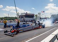 Jun 6, 2016; Epping , NH, USA; NHRA top fuel driver Todd Paton during the New England Nationals at New England Dragway. Mandatory Credit: Mark J. Rebilas-USA TODAY Sports
