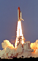 Space Shuttle Discovery lifts off from Kennedy Space Center to begin the STS-64 mission, Kennedy Space Center, Titusville, FL, September 9,1994.  (Phot by Brian Cleary/www.bcpix.com)