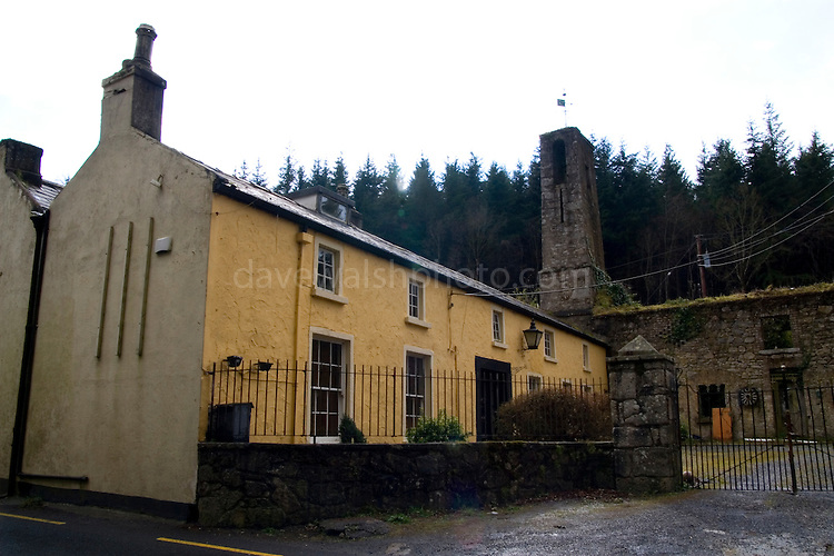 Killakee House, Rathfarnham Dublin, notoriously haunted house connected to stories of the nearby Hellfire Club building. The area was haunted by a giant black cat in the 1960s, and there are stories of the skeleton of a dwarf being found under the floor with a brass figurine of a devil. ....Countess Markievicz occupied the house during the Irish war of independence..