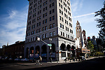 An empty downtown Stockton, Calif., July 11, 2012. The bankrupt city has cut back on many services, while residents and private contractors are picking up the slack.