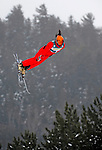 16 January 2009: Xin Zhang from China performs aerial acrobatics during the FIS Freestyle World Cup warm-ups at the Olympic Ski Jumping Facility in Lake Placid, NY, USA. Mandatory Photo Credit: Ed Wolfstein Photo. Contact: Ed Wolfstein, Burlington, Vermont, USA. Telephone 802-864-8334. e-mail: ed@wolfstein.net