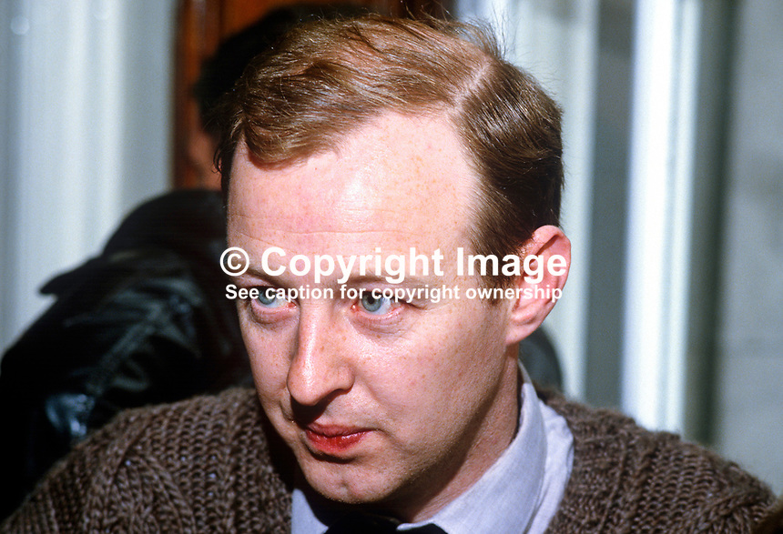 Joe Austin, Belfast, N Ireland, prominent member, Provisional Sinn Fein, 19850514JA2..Copyright Image from Victor Patterson, 54 Dorchester Park, Belfast, UK, BT9 6RJ..Tel: +44 28 9066 1296.Mob: +44 7802 353836.Voicemail +44 20 8816 7153.Skype: victorpattersonbelfast.Email: victorpatterson@me.com.Email: victorpatterson@ireland.com (back-up)..IMPORTANT: If you wish to use this image or any other of my images please go to www.victorpatterson.com and click on the Terms & Conditions. Then contact me by email or phone with the reference number(s) of the image(s) concerned.