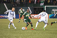 Portland, Oregon - Wednesday, February 15, 2017: Portland Timbers vs. Vancouver Whitecaps FC in a preseason match at Providence Park.  Final Score: Portland Timbers 2, Vancouver Whitecaps 1