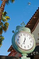 Zense, Handbags, Clock, El Paseo Drive, Palm Desert, CA; famous; retailers;  fashion; haute couture; shopping; CA; California; Coachella Valley; Desert;