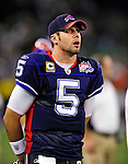 3 December 2009: Buffalo Bills' quarterback Trent Edwards looks up at the scoreboard during a game against the New York Jets at the Rogers Centre in Toronto, Ontario, Canada. The Bills fell to the Jets 19-13. Mandatory Credit: Ed Wolfstein Photo