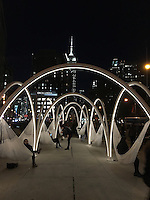 NEW YORK, NY - NOVEMBER 18: Views of the 'Flatiron Sky-Line' architectural installation, the winner of  the third annual Flatiron Public Plaza design competition which called for proposals from 5 New York City firms to design a temporary installation to be located at the base of the iconic Flatiron Building in New York, New York on November 17, 2016.  Photo Credit: Rainmaker Photo/MediaPunch
