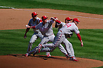 """Phillies starter Roy """"Doc"""" Halladay delivers a pitch vs. the Washington Nationals on Opening Day, April 5, 2010."""